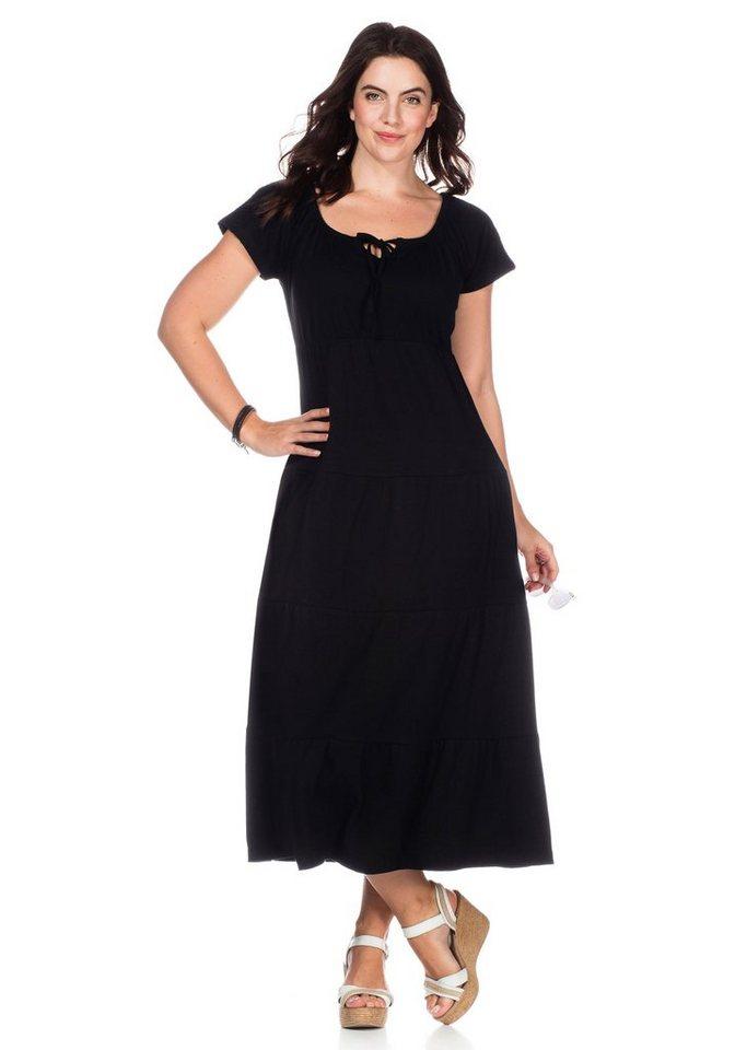 sheego Casual sheego Casual jurk in strokenmodel zwart