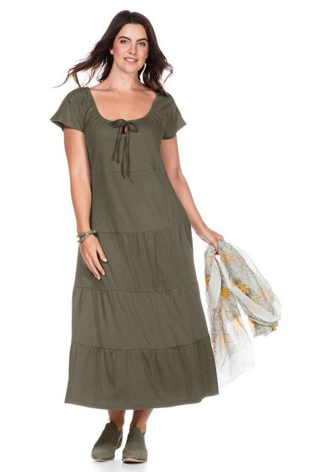 sheego Casual sheego Casual jurk in strokenmodel groen