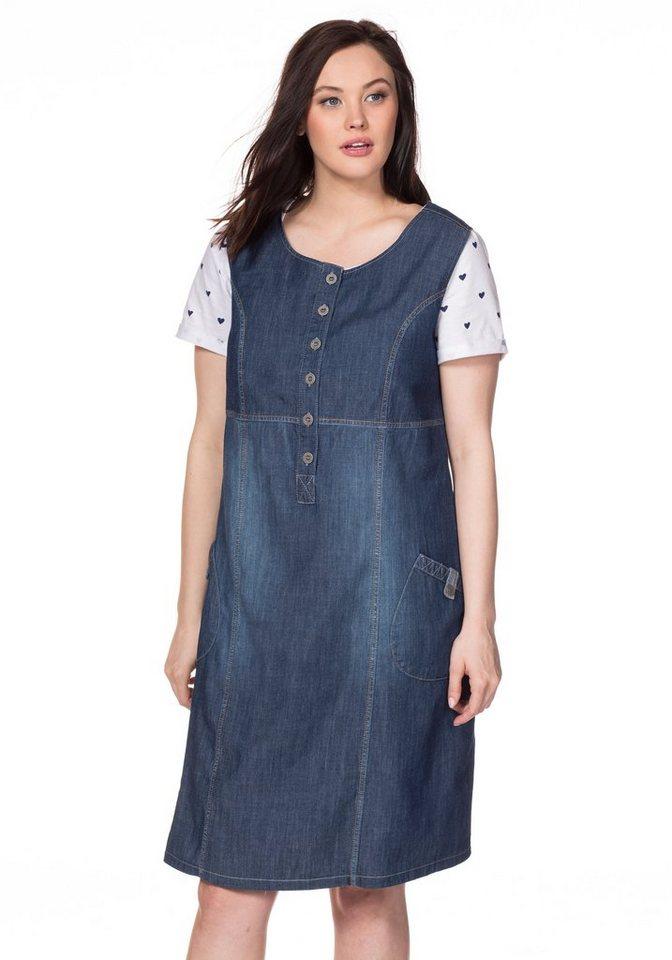 sheego Casual Sheego Casual jeansjurk blauw
