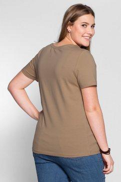 sheego basic t-shirt beige