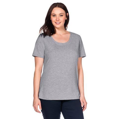 SHEEGO CASUAL Basic T-shirt met ronde hals