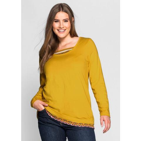 NU 15% KORTING: sheego Casual SHEEGO CASUAL shirt met lange mouwen in 2-in-1-look