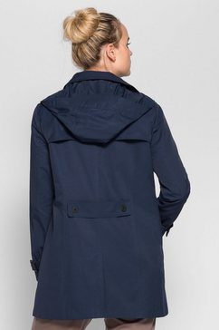 sheego casual sheego casual trenchcoat met capuchon blauw