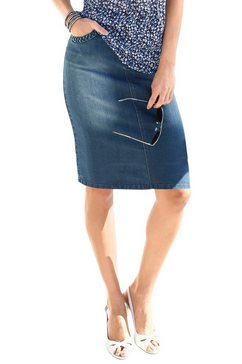 jeansrok in modieuze wassing