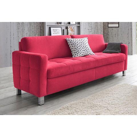 woonkamer driepersoons bankstel rood luxe-Microgaren SitenMore