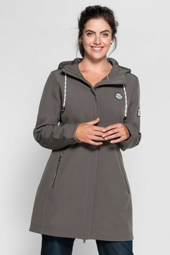 sheego casual sheego casual lange softshell-jas grijs