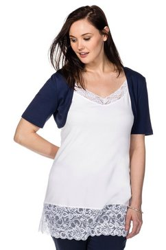 sheego basic sheego casual basic bolero blauw