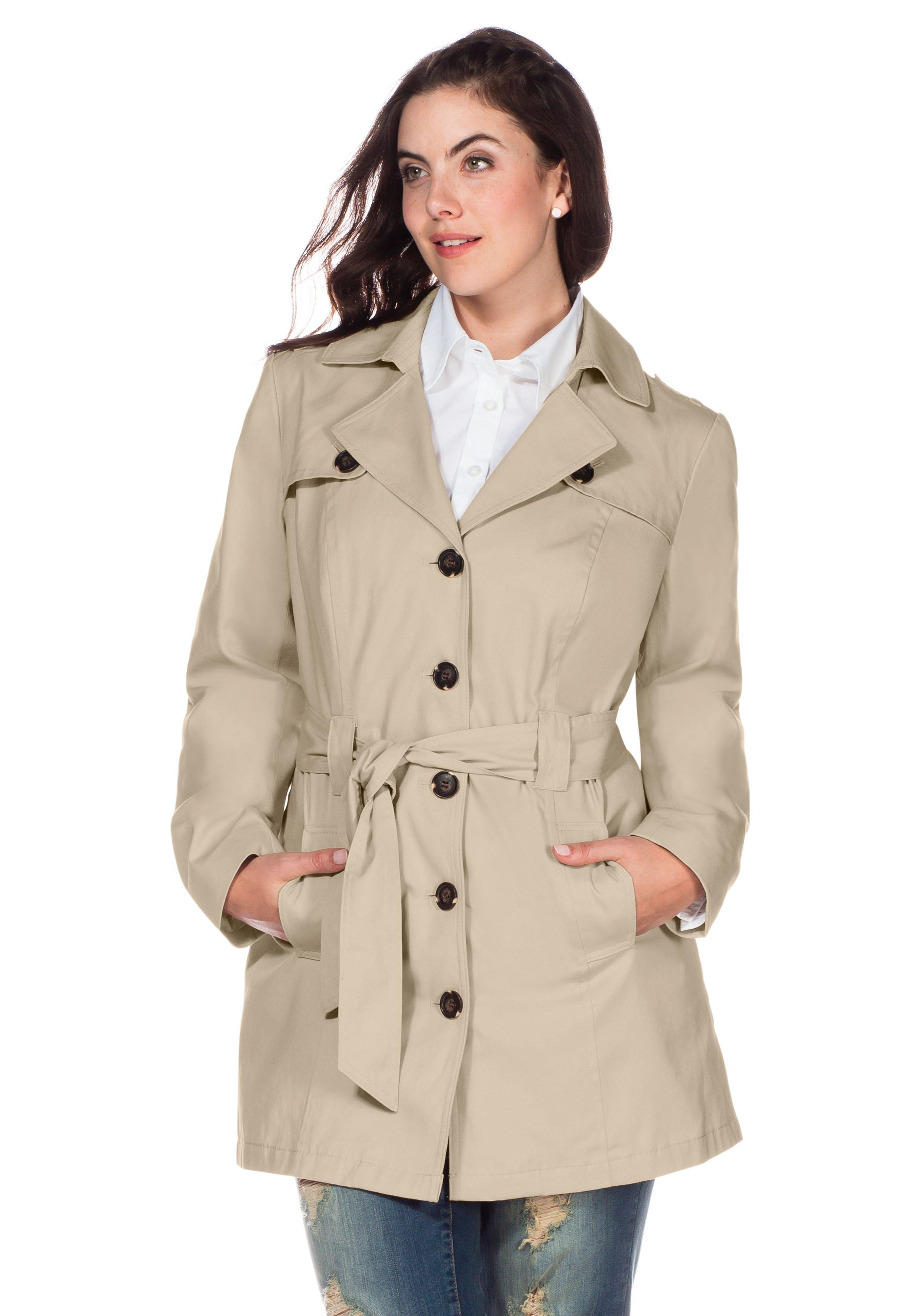 Op zoek naar een Sheego Casual sheego Casual trenchcoat in kort model? Koop online bij OTTO