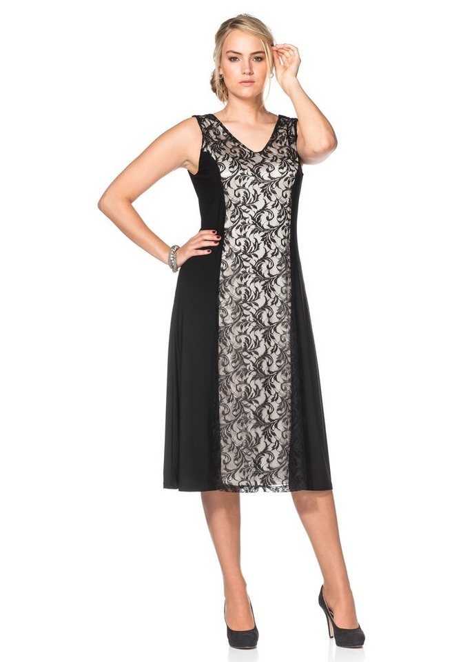 sheego Style Sheego Style kanten jurk zwart