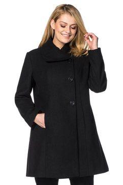 sheego korte jas zwart