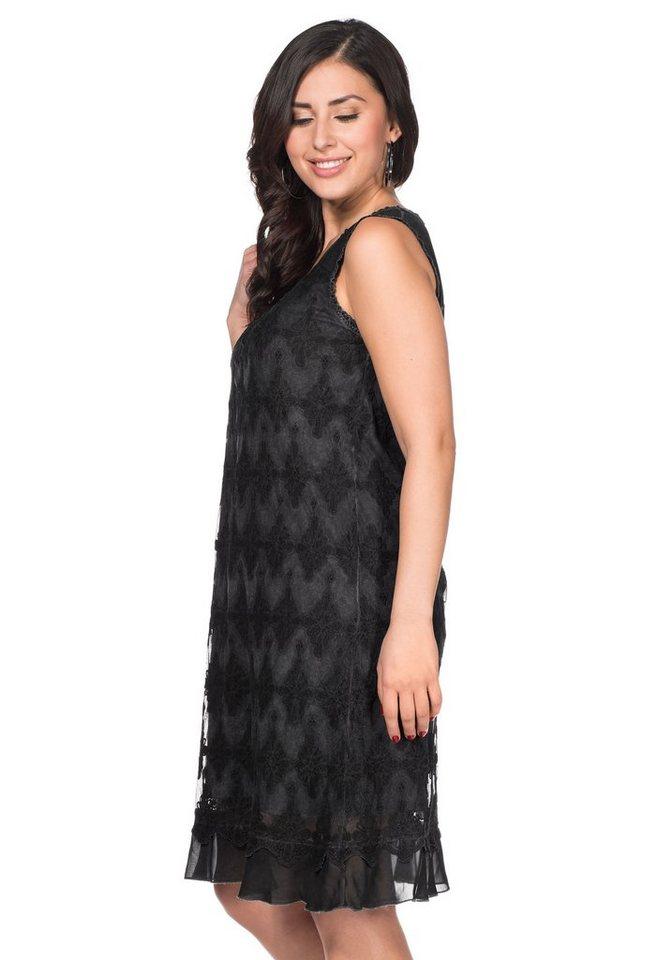 sheego Style Sheego Style kanten jurk grijs