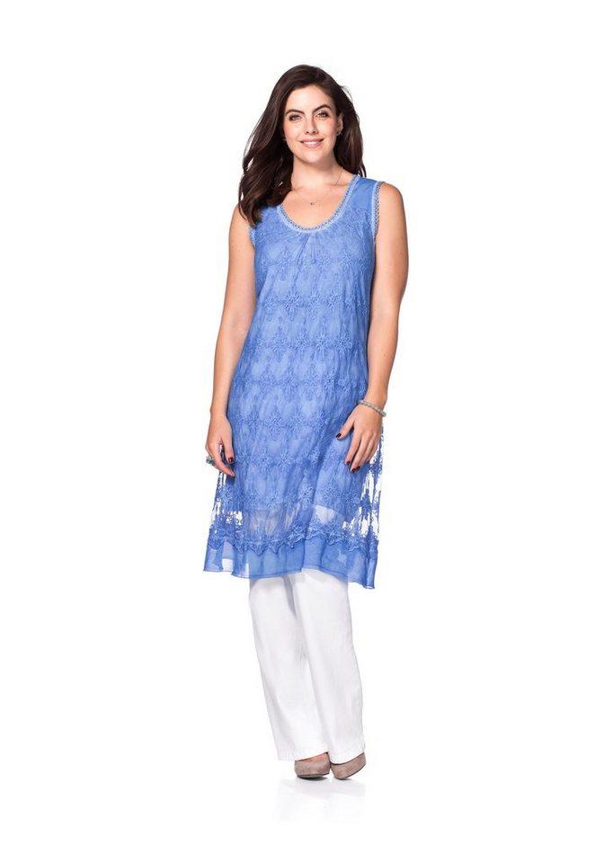 sheego Style Sheego Style kanten jurk blauw