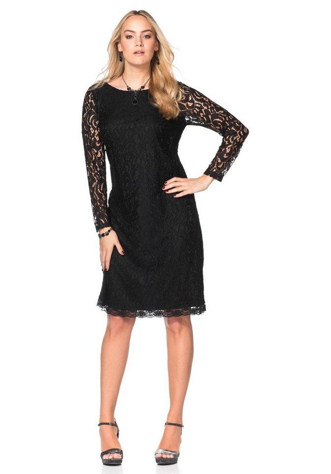 sheego Style sheego Style jurk met kant zwart