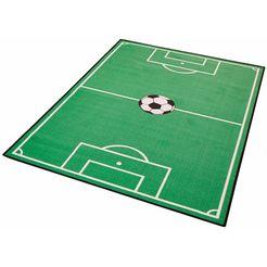 kindervloerkleed, hanse home, »voetbalveld 1«, getuft groen
