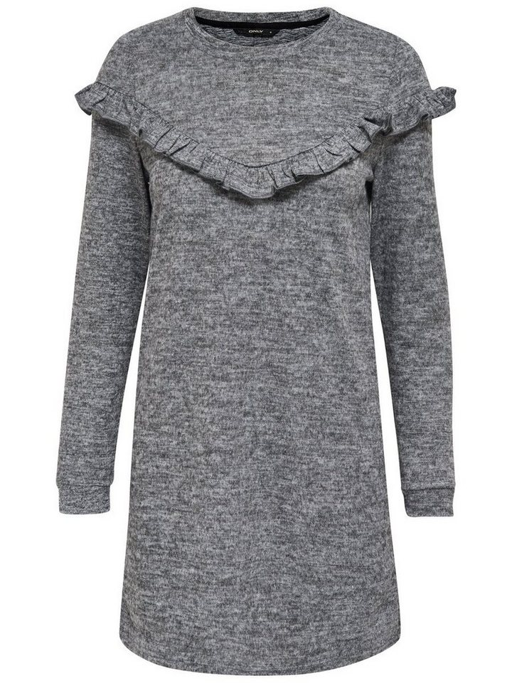 ONLY Franje gebreide jurk grijs