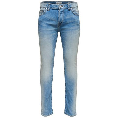 NU 20% KORTING: ONLY & SONS Loom lichtblauwe Slim fit jeans