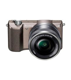 Alpha ILCE5100L-systeemcamera, 16-50 mm zoom, incl tas, 32GB SD-kaart