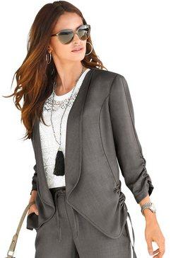 alessa w. blouseblazer in zomerse linnen-look bruin