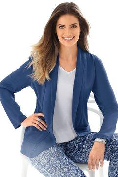 classic basics blazer in jerseykwaliteit blauw