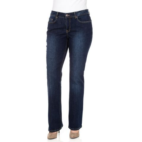 NU 15% KORTING: sheego Denim Bootcut-stretchjeans