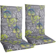 go-de kussen voor stoel met hoge rugleuning »lima« grijs