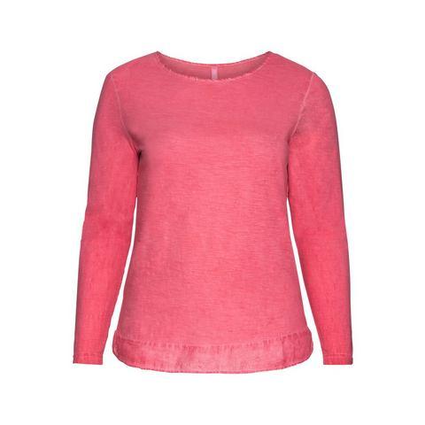 SHEEGO CASUAL shirt met lange mouwen en weefstofbeleg