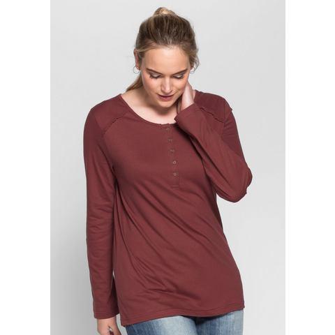 SHEEGO CASUAL shirt met lange mouwen en gehaakte kant