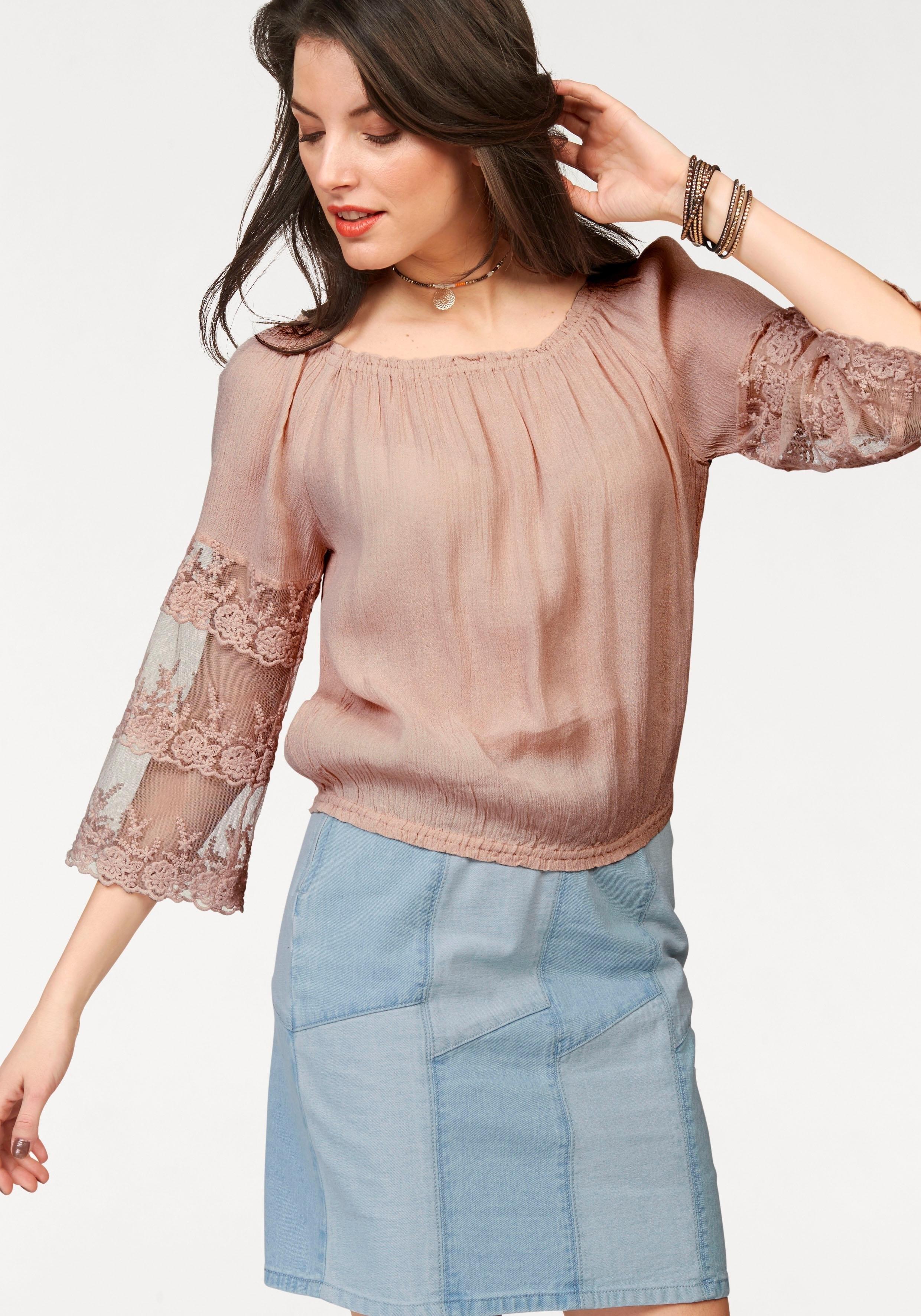 Aniston Casual ANISTON kanten blouse - gratis ruilen op otto.nl