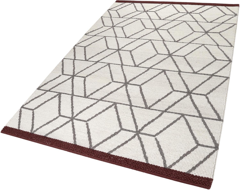 ESPRIT Vloerkleed, »Hexagon«, hoogte 5 mm, met de hand geweven nu online kopen bij OTTO