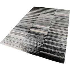 vloerkleed, esprit, »wild stripes«, hoogte 20 mm, machinaal vervaardigd grijs