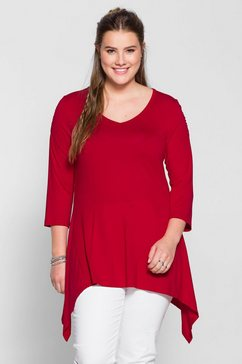 sheego casual sheego trend lang shirt rood