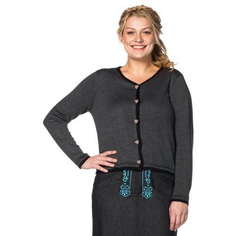 sheego Style SHEEGO STYLE vest in folklorestijl