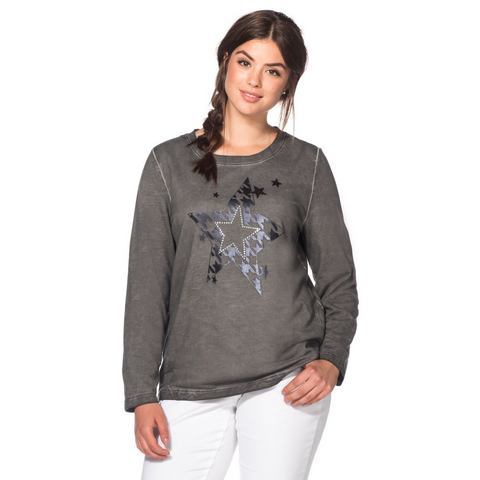 SHEEGO CASUAL sweatshirt in oil-washed-look