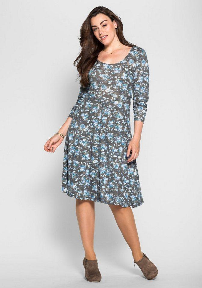 sheego Style Sheego Style jurk met allover-print grijs