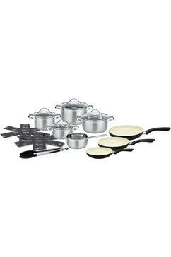 Meine Küche pannenset, 15-delig, edelstaal/aluminium, inductie