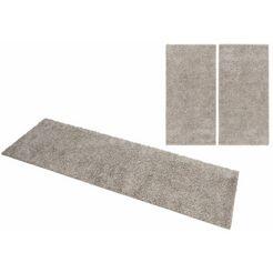 slaapkamerset, home affaire collection, »shaggy 30«, hoogte 30 mm, geweven (3-dlg.) grijs