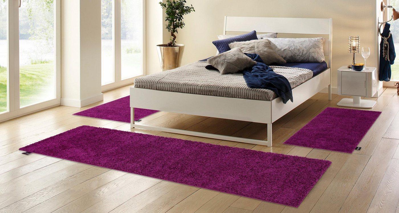 Hoogpolige slaapkamerset 3-dlg., Bruno Banani, Shaggy Soft, hoogte 30 mm, geweven