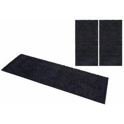 slaapkamerset, home affaire collection, »shaggy 30«, hoogte 30 mm, geweven (3-dlg.) zwart