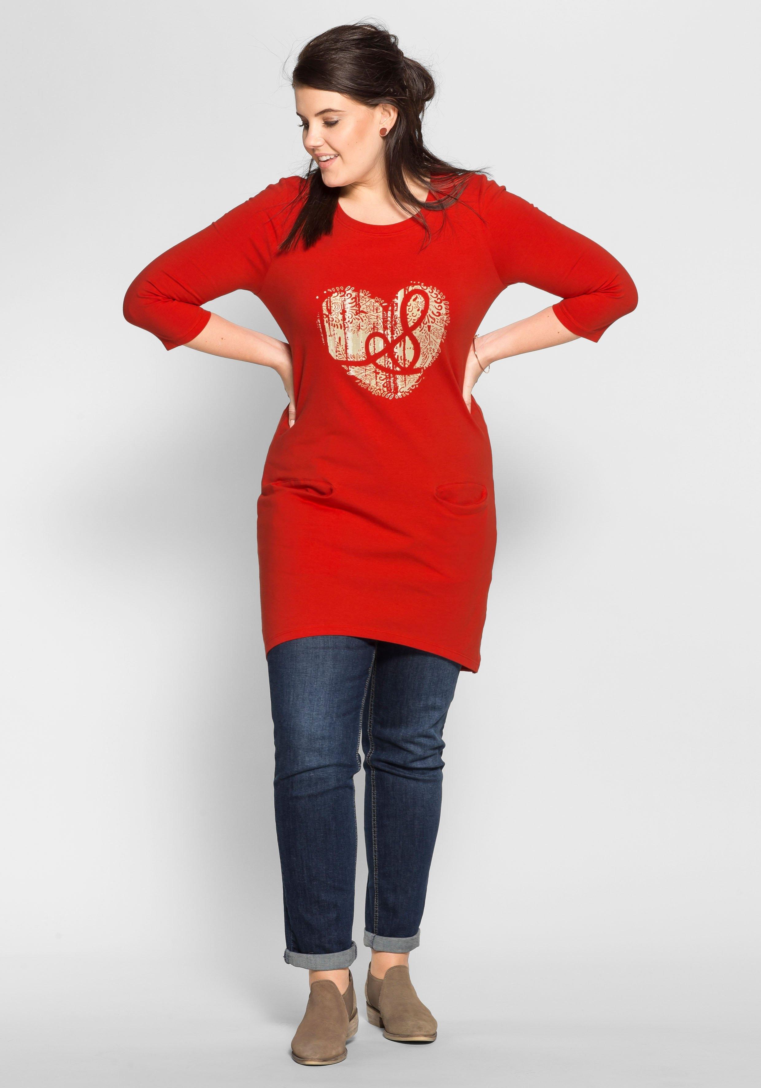 Rode jurk lange mouwen