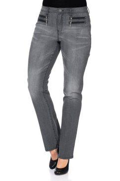 sheego denim stretch jeans grijs