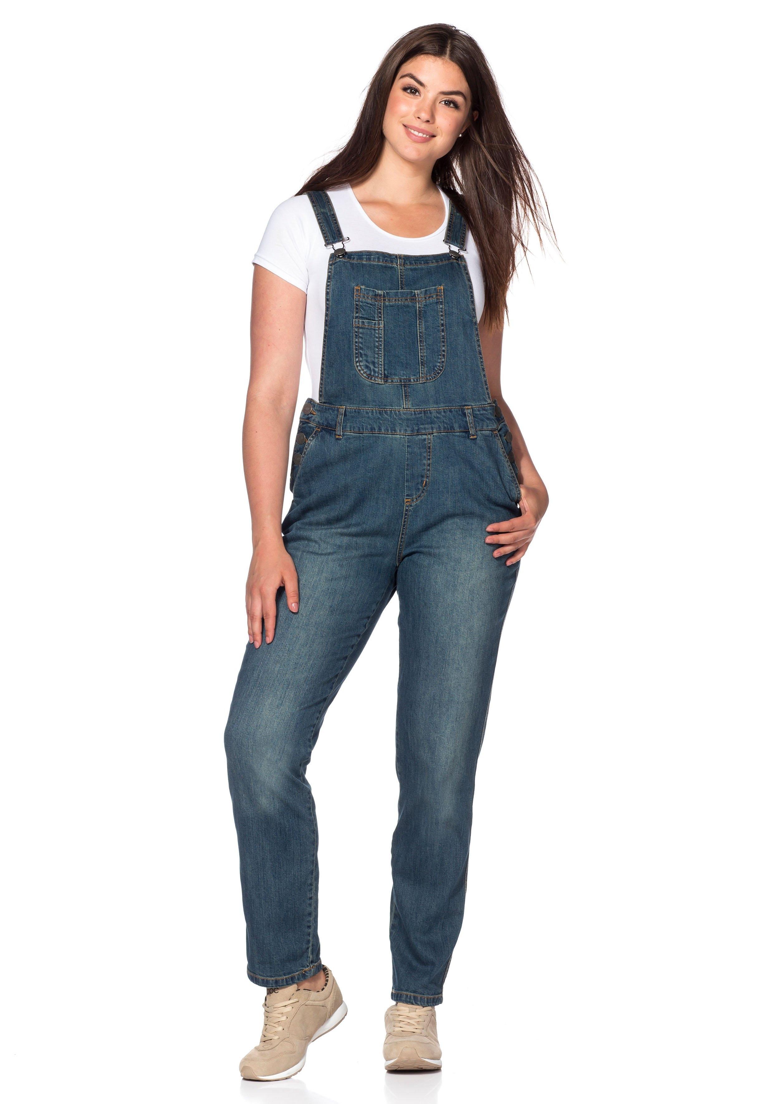 sheego denim sheego denim jeans tuinbroek met used. Black Bedroom Furniture Sets. Home Design Ideas