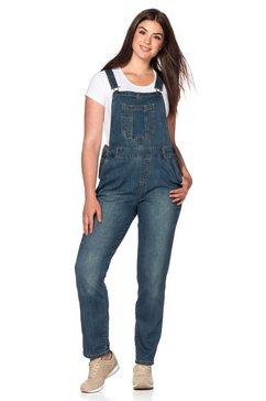 jeans-tuinbroek met used-effecten