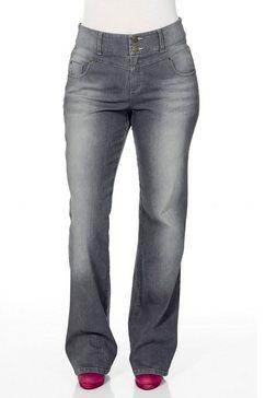 sheego denim sheego denim jeans �bootcut� grijs