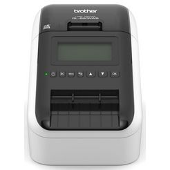 brother etikettenprinter »ql-820nwb etikettendrucker lan-wlan-bluetooth« zwart