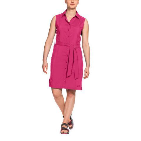 JACK WOLFSKIN jurk »SONORA DRESS«, Bij 30 °C van de stad naar het strand? Als jij je vrije tijd in de zomer het liefst buiten doorbrengt, ben je in de SONORA DRESS heerlijk luchtig gekleed. Deze mouwloze jurk is gemaakt van een zeer functioneel materiaal, dat vocht goed opneemt en dat snel weer droogt. En op lange, warme dagen zonder veel schaduw beschermt de jurk je tegen UV-straling. BUITENKANT: 100% POLYESTER.Extra gegevens:Merk : Jack WolfskinKleur : rozeVerzendkosten : 5.95Maat/Maten : XS (34);S (36/38);M (40);L (42/44);XL (46);XXL (48)Levertijd : Levertijd: 3 - 5 werkdagen