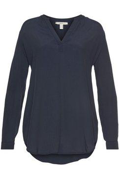 esprit blouse zonder sluiting blauw