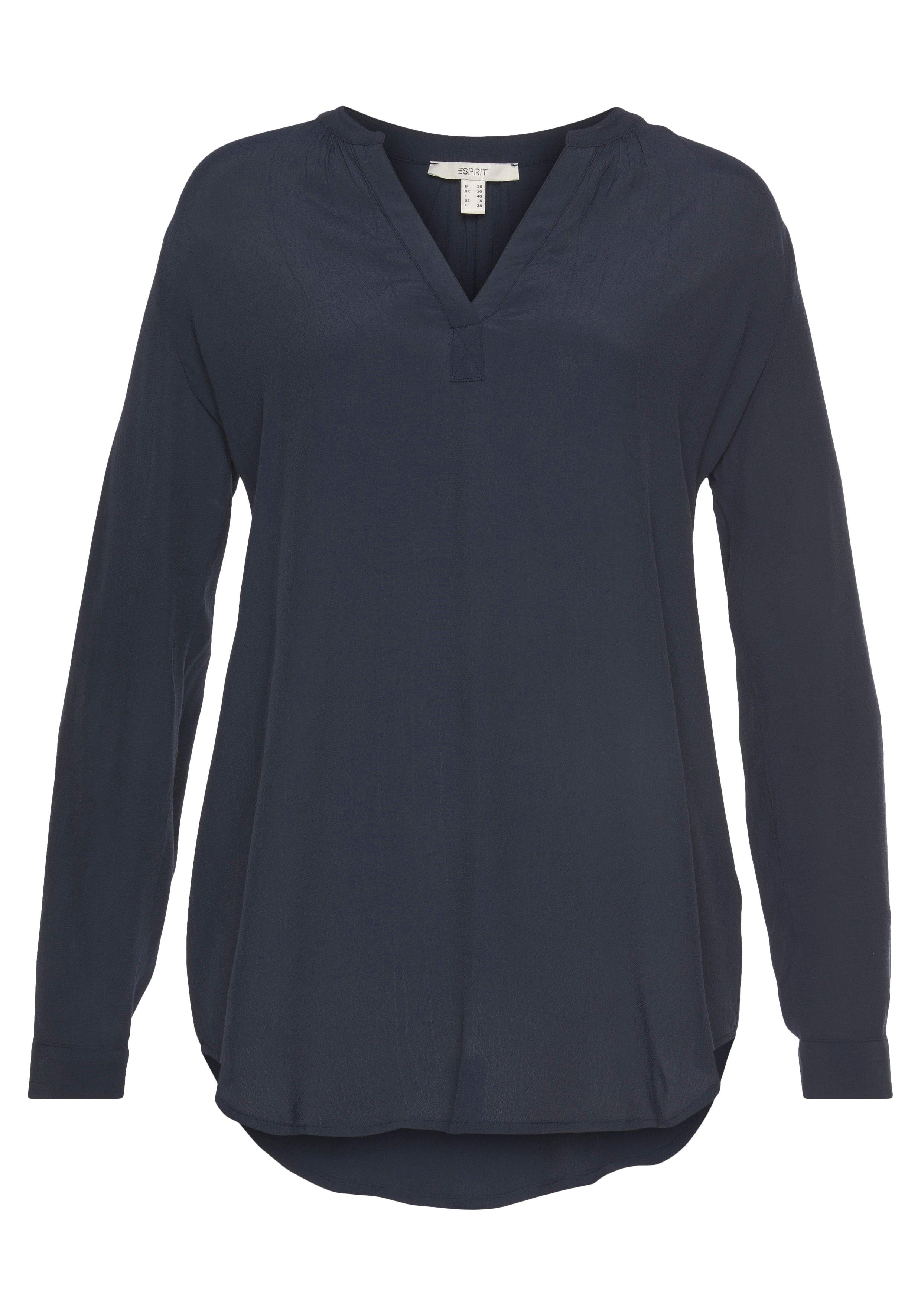 Esprit blouse zonder sluiting in tuniekmodel en met een afgeronde zoom goedkoop op otto.nl kopen