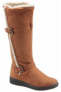 city walk laarzen met sleehak bruin