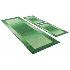slaapkamerset, theko, »gabbeh ideal«, getuft (3-dlg.) groen