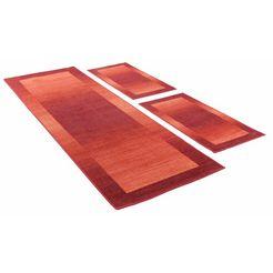 slaapkamerset, theko, »gabbeh ideal«, getuft (3-dlg.) rood